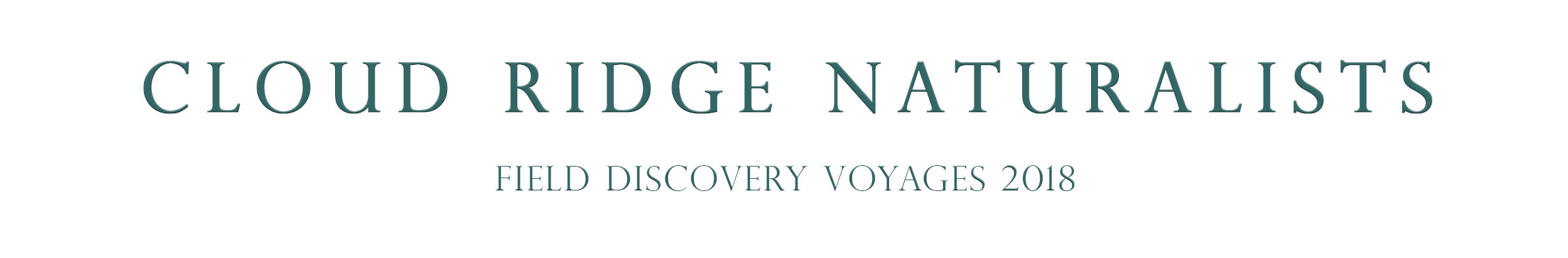 Cloud Ridge Naturalists Field Discovery Seminars 2018