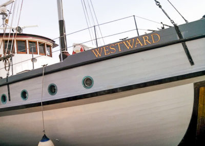 bow of m/v Westward